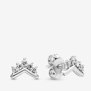 Pandora Tiara Wishbone Stud Earrings